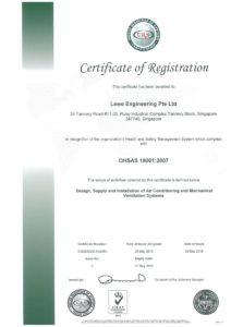 Lewe OSHAS 18001 _ EXPIRY 27 MAY 2019